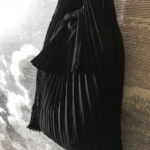 Handbags - Pleated Tote Bag Black Japanese Style Shopping